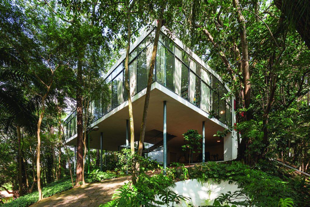 Casa de Vidro no Morumbi, onde está o acervo de Lina Bo Bardi - Foto divulgação