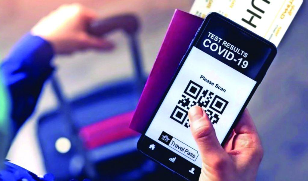 Travel Pass (passaporte sanitário) no celular - Foto divulgação