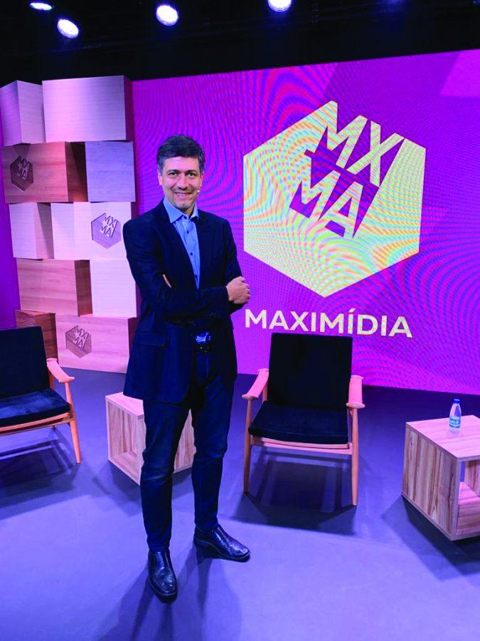 O empresário no Maximídia, que também conta com a realização do veículo - Foto divulgação