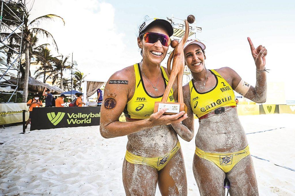 Ágatha e Duda chegam à final do Mundial em Cancún e levam a prata - Foto: Alejandro Gutiérrez Mora