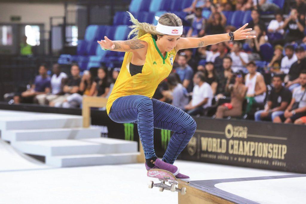 Letícia Bufoni conquista o segundo lugar no Street League de Skate, realizado no Parque Olímpico da Barra, no Rio de Janeiro, em 2019 - Foto: Breno Barros | rededoesporte.gov.br