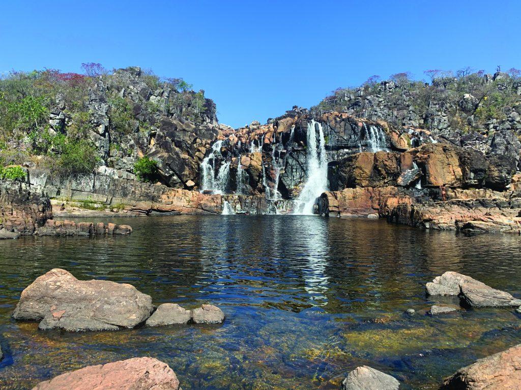 Cachoeira Cariocas no Parque Nacional da Chapada dos Veadeiros - Foto Isadora Otoni