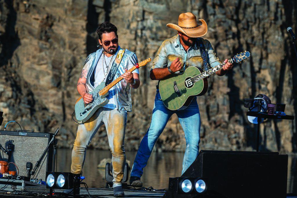 """Live """"A Rocha"""",da dupla Fernando e Sorocaba , que ocorreram em julho de 2020 - Foto Gabriel Silva"""