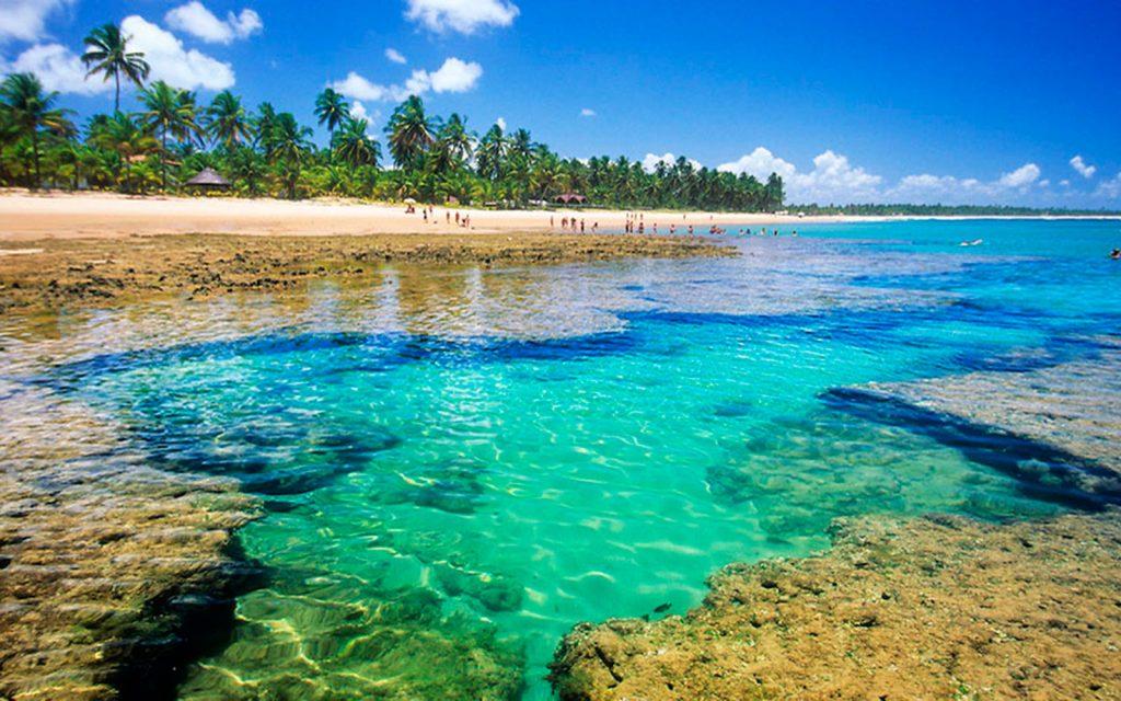 Piscinas de coral nas praias na Península do Maraú - Foto: Divulgação