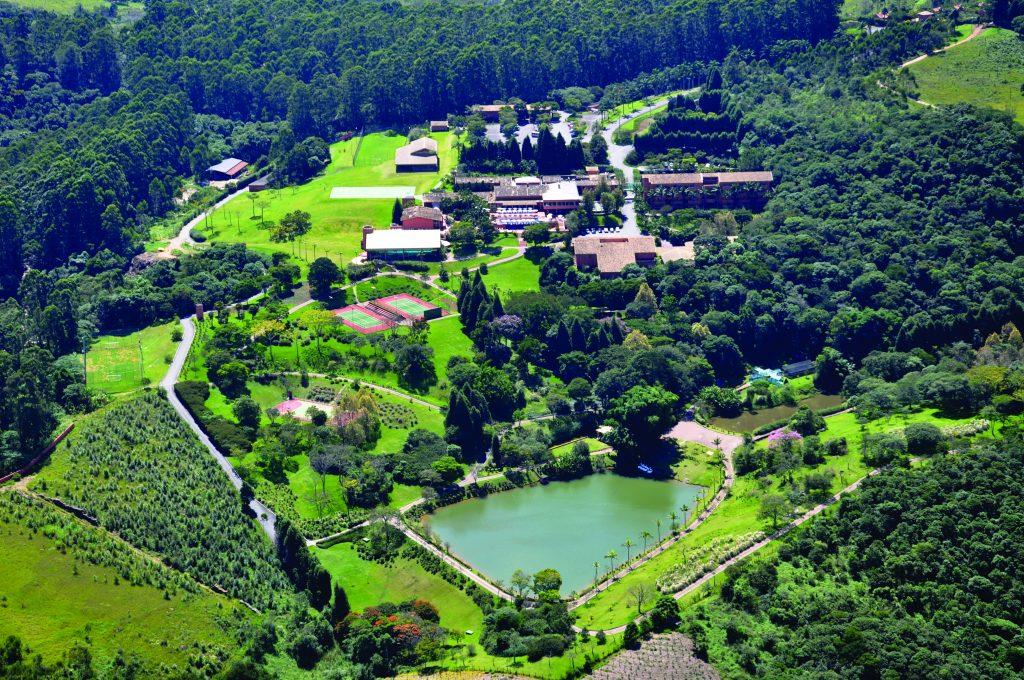 vista aérea do hotel Villa Rossa, em São Roque - Foto: Divulgação