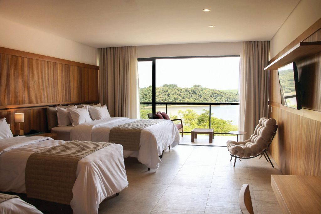 Vista dos quartos superiores do resort - Foto: Cassio Vasconcelos | Divulgação